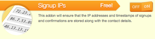 signup ips add on
