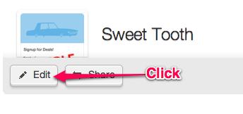 webform style options, click edit