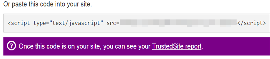 Add Trustmark Code