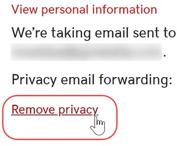 click to remove privacy