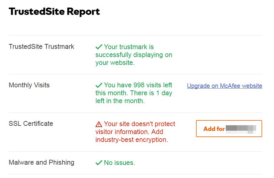 TrustedSite Report