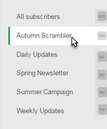 Choose a mailing list