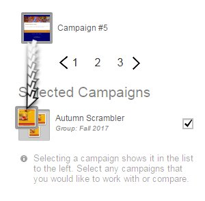 drag the campaign thumbnail on top of the group