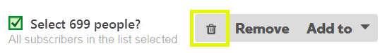 Check the 'Select X People' box, and click the trash can