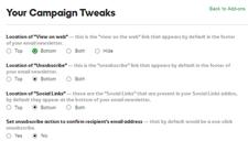 Set up Campaign Tweaks