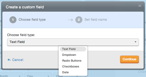 field type options for fancy fields