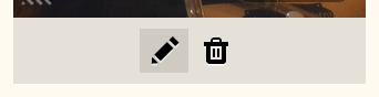 Click pencil icon to add link to image.