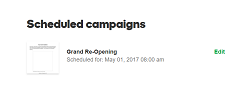 scheduled campaigns