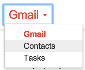 Select Contacts under the Gmail menu.