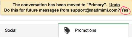 Gmail Tabs asks