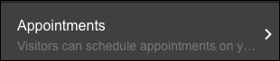 click Appointments pane