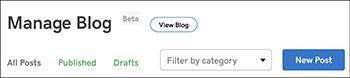 click new post button
