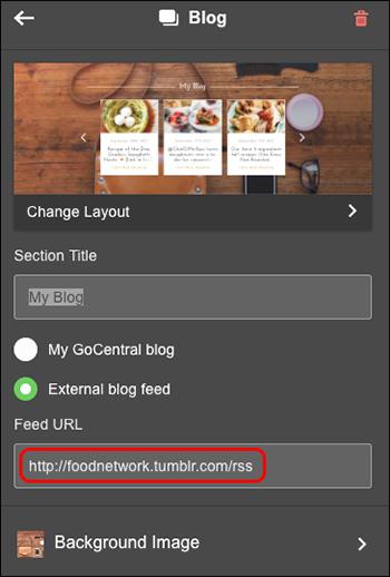 Customize blog settings