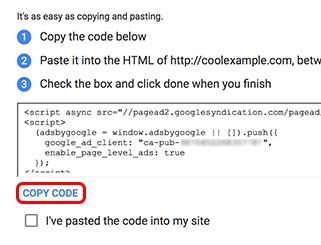 click copy code
