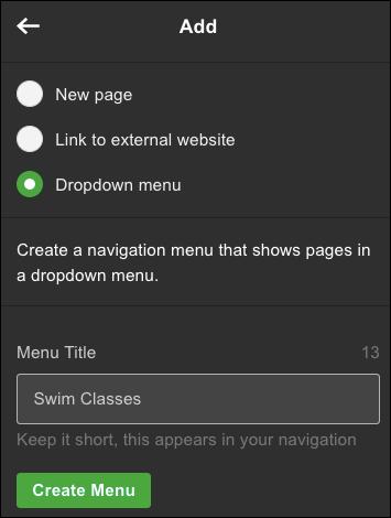 Choose Drop-down menu and name