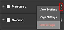 Click Delete Page