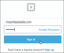 Sign into Square