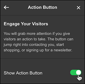 toggle on Show Action Button