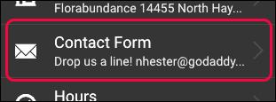 Click Contact Form item