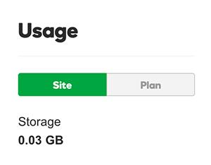 managed wordpress site usage