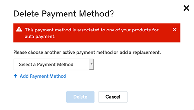 select another payment method