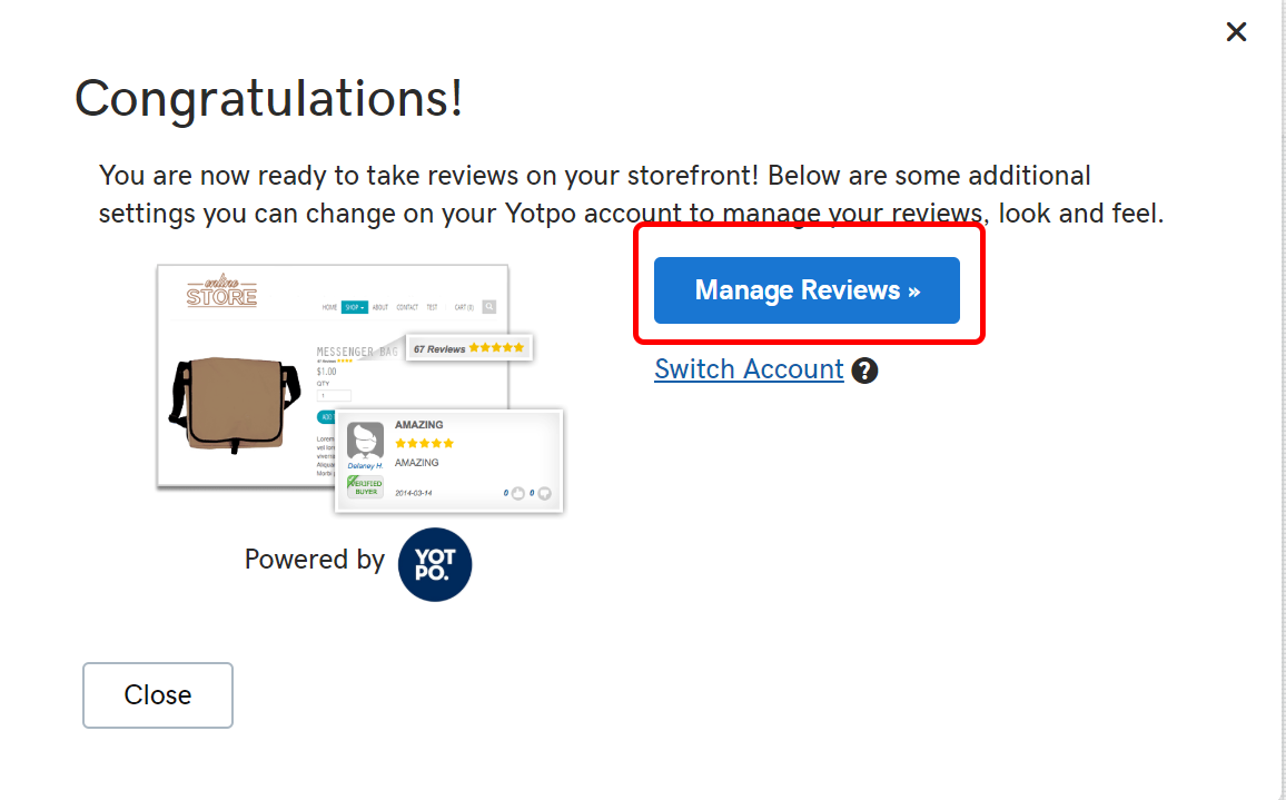online store enable reviews manage reviews