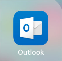 Tap Outlook app.