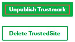 Unpublish TrustedSite