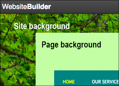 Your site's background surrounds every page