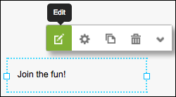 Click Edit to display the text editor.