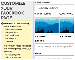 Customize your Facebook page