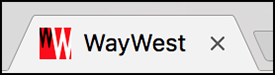 Example favicon in web browser tab