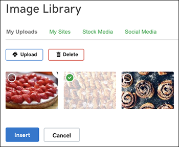 Image Library choices