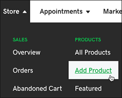 Select Add Product