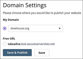Make selection from My Domain menu