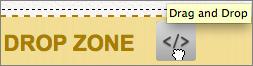 Drag script icon to page's Drop Zone