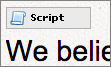 Small script icon displays on page