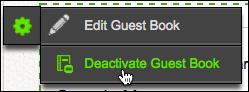 Click Deactivate Guest Book