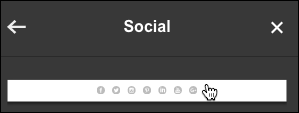 Click row of buttons