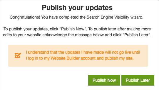 publish updates
