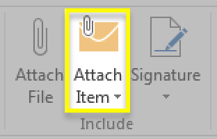 Click Attach Item