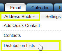 Click Distribution Lists