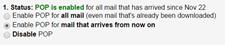 Set up POP3 in Gmail