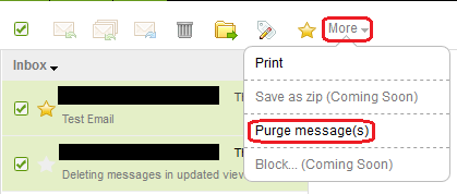 Purge emails