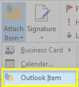 Select Outlook Item