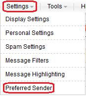Select Preferred Sender